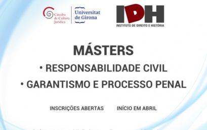 IDH oferece novos cursos de Mestrado na área das Ciências Jurídicas