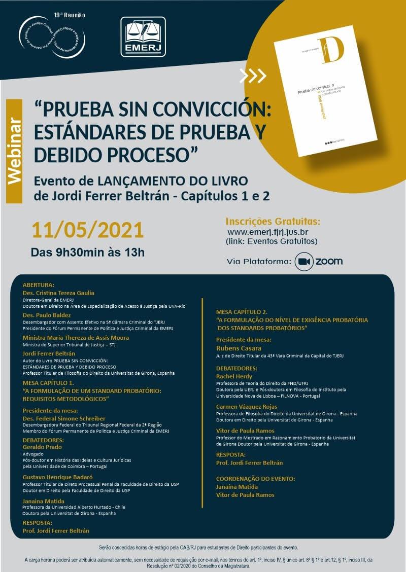 Evento de lançamento do livro de Jordi Ferrer Beltrán